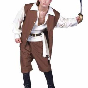 Caribbean Pirate Adult Costume