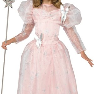 Girls Wizard of Oz Glinda The Good Witch Deluxe size Costume