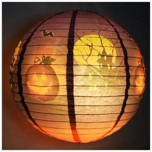 Haunted House Halloween Paper Lantern