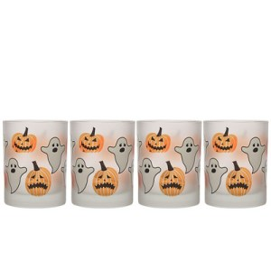 Frosted Halloween 14 oz. Double Old Fashion Glass