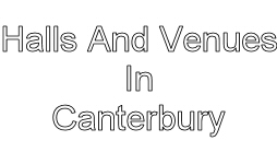halls and venues in canterbury image