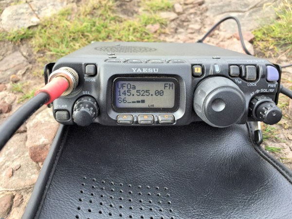 Yaesu 817 Mid-QSO on 2m FM