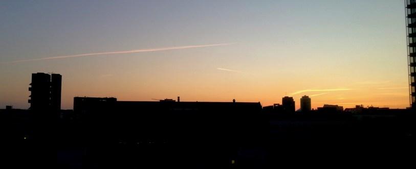 Berlin Sonnenuntergang Foto
