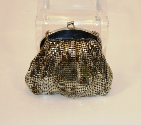 Whiting & Davis - Vintage Silver Evening Pouch