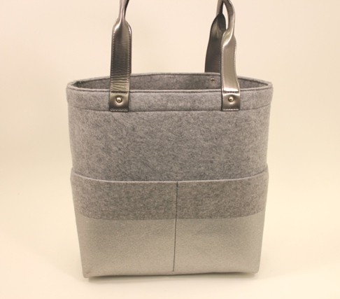 Kate Spade - Frosted Felt Dipped Bou Shopper in Heather Grey II