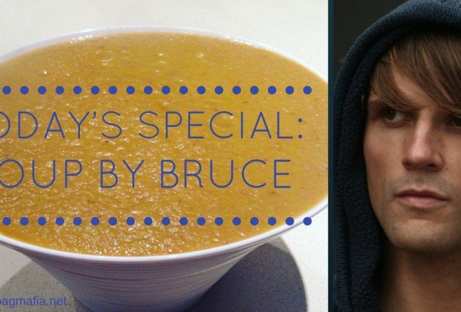 BRUCE HAS HIS SOUP-MAKING FACE ON (1)