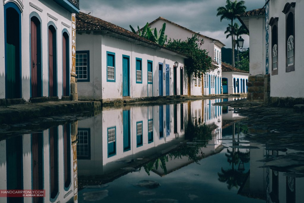 The colourful buildings and historic streets of UNESCO listed Paraty