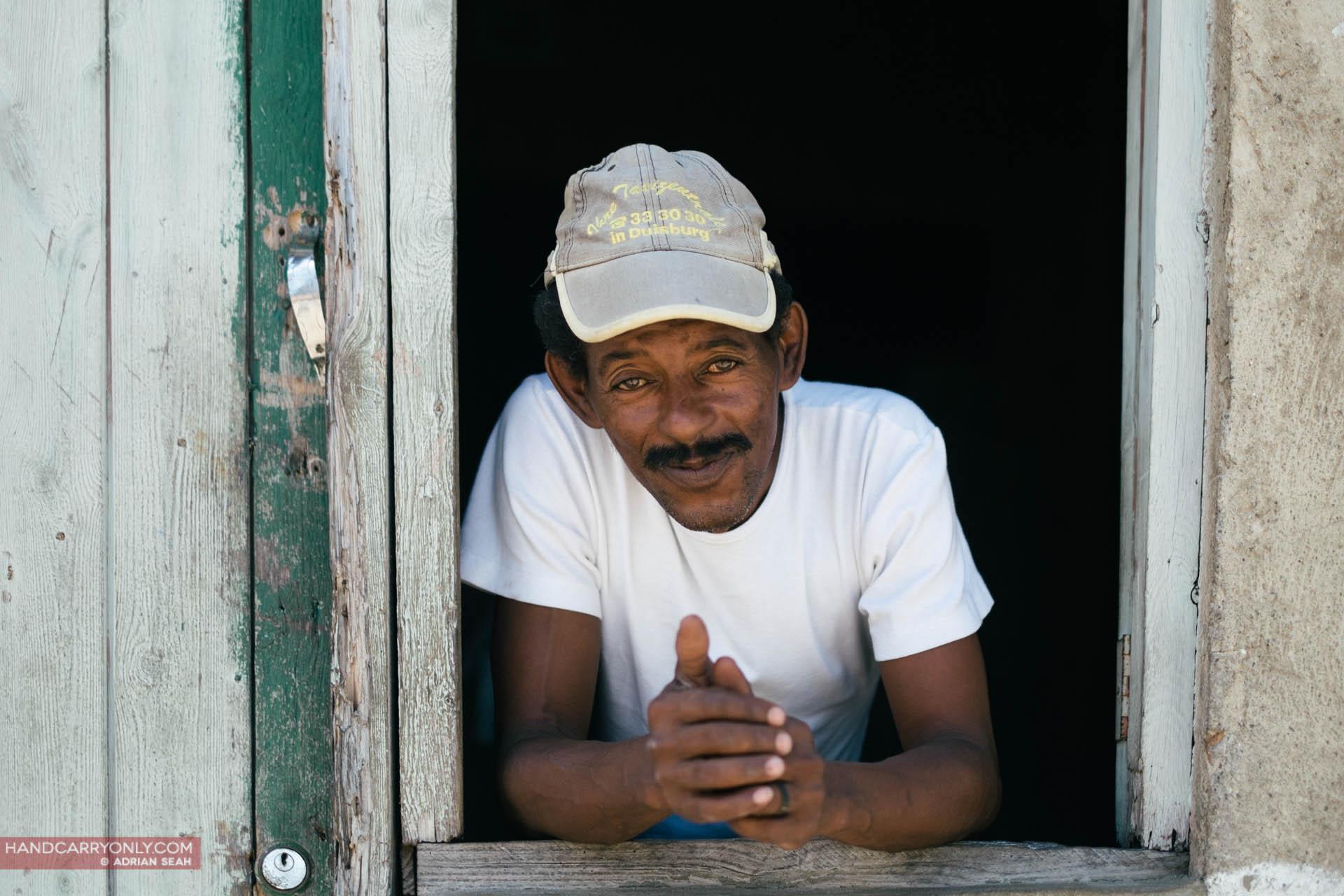 man with cap portrait cuba
