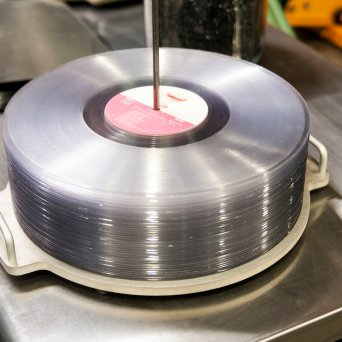 "Vinyl Records Spindle : Hand Drawn Pressing ""Vinyl Record Manufacturer"" Spring 2017 // Courtesy Austin James, CrateDiggersDallas.com"