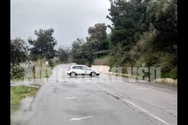 Κλειστός ο δρόμος από Βουκολιές προς Παλαιόχωρα