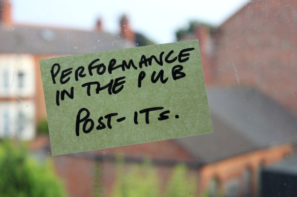 Performance in the Pub Post Its