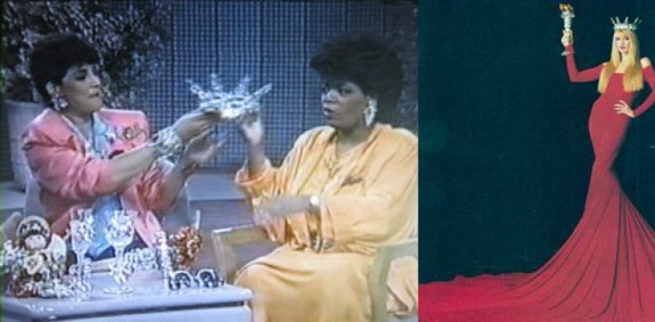 Fashion Jewelry Designer Wendy Gell appears on the Oprah show and wows her with a sparkling tiara, later worn by supermodel Jerry Hall in a fashion magazine spread!