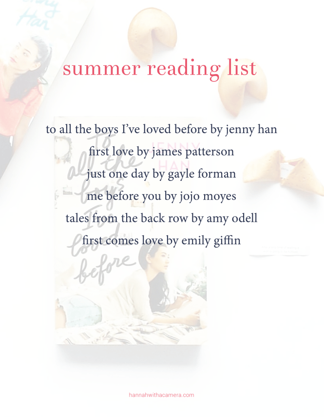 summer reading list | Hannah With a Camera