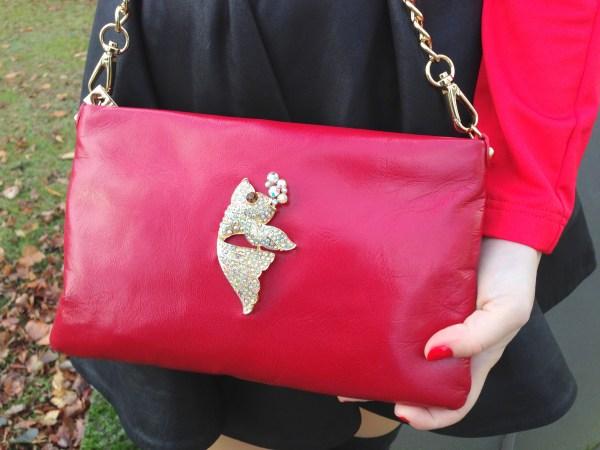 Asos leather skirt & Love Moschino bag
