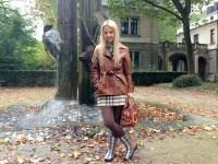 Burberry rain boots & Burberry wool skirt