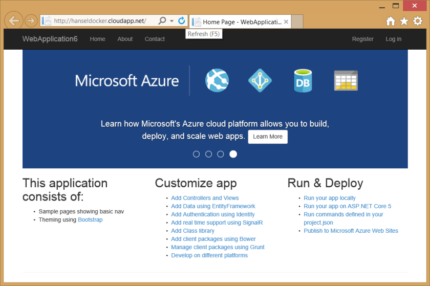 ASP.NET in a Linux Docker Container