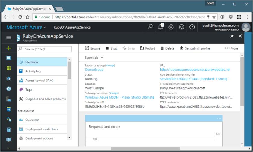 Ruby on Rails on Azure