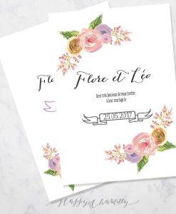 Faire part mariage page 2 happy chantilly studio for Livret des fleurs
