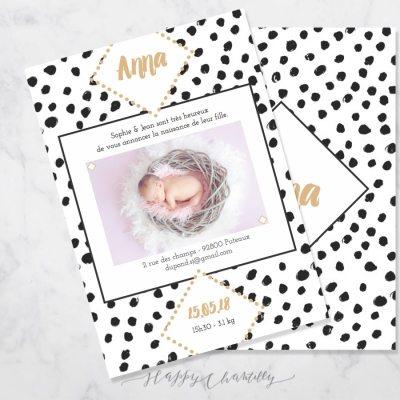 faire-part-naissance-pois-noir-peinture-aquarelle-illustratrice-happy-chantilly-2