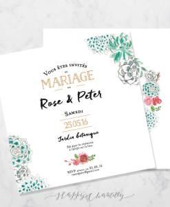 faire-part-mariage-couronne-succulentes-baies-fleurs-peinture-aquarelle-2