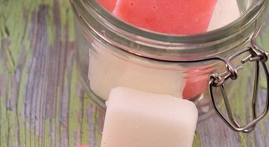 DIY Peppermint Sugar Scrub Bars