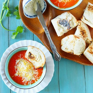 Roasted Tomato, Red Pepper & Garlic Soup