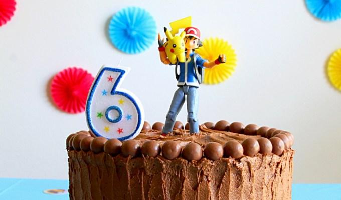 Pokemon Birthday Cake {Yellow Layer Cake With Chocolate Buttercream}