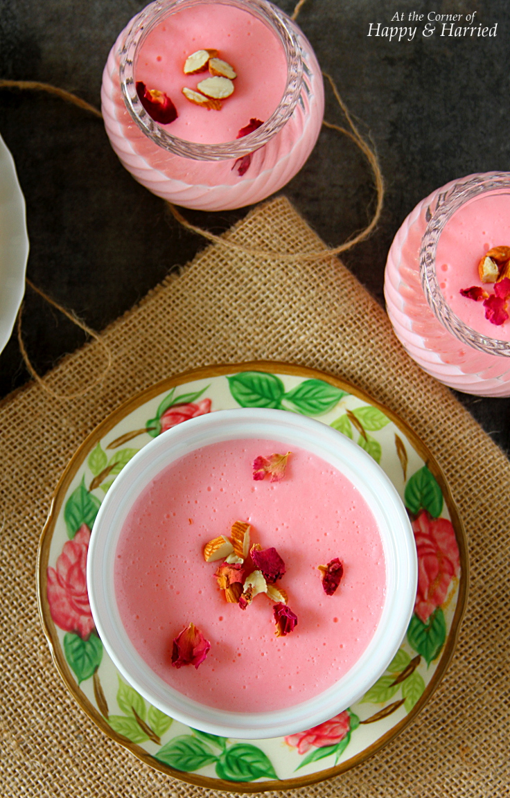 GULAB PHIRNI {Indian Rice Pudding}