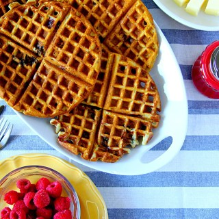 Lemon, Greek Yogurt & Berry Waffles