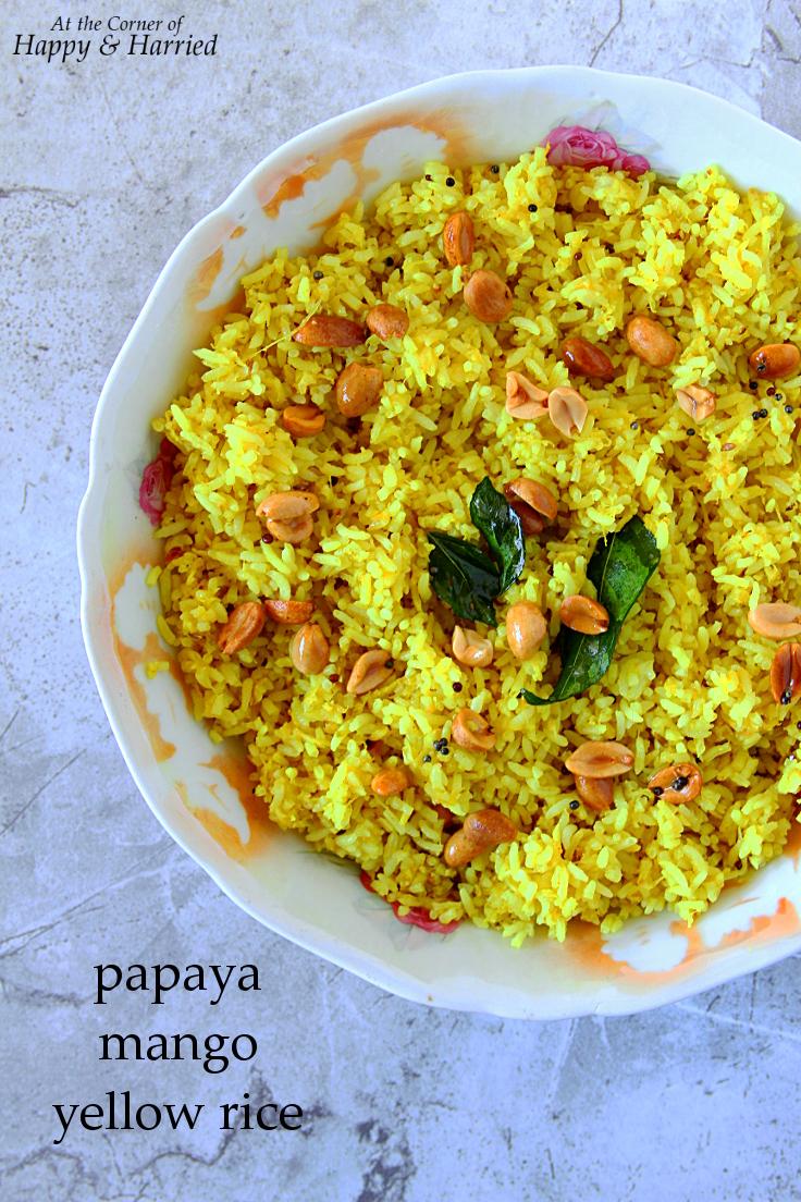 Papaya-Mango Yellow Rice