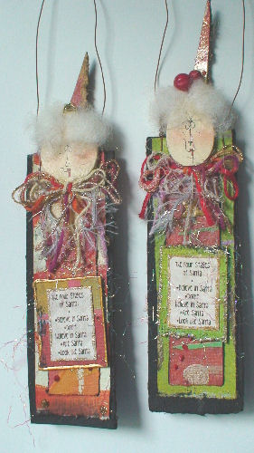 """'Four Stages of Santa"""" Ornament 1"""