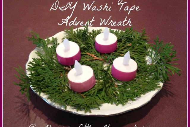 kid friendly diy washi tape advent wreath