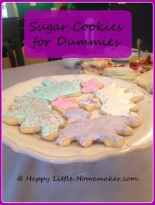 sugar cookies for dummies