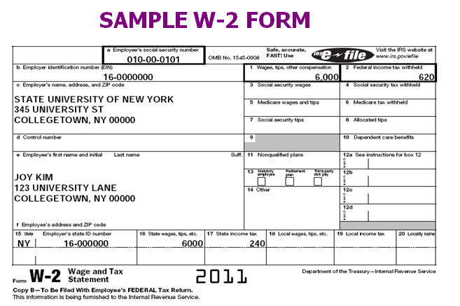 Printable W2 Form – Printable Pages