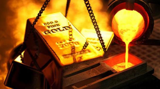 Suku bunga AS tetap bikin harga emas berkilau