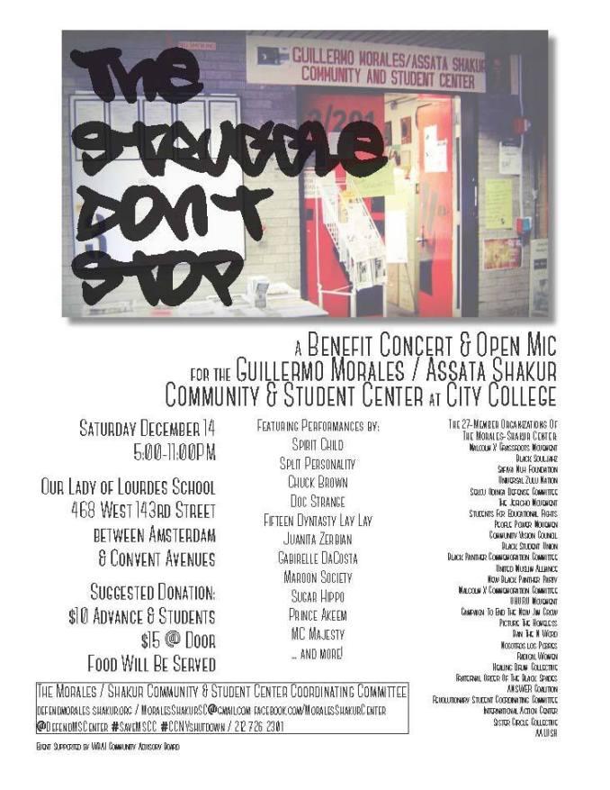 mscsc benefit concert dec 14th flyer