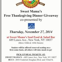 Sweet Mama's 'Free Thanksgiving Dinner Giveaway' In Harlem