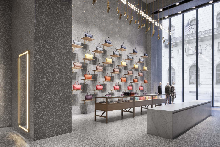RETAIL INTERIOR DESIGN CONSIDERATIONS David Chipperfield Architects did a great job of the lighting design in  this Valentino store in New York  Each purse is highlighted and casts  interesting