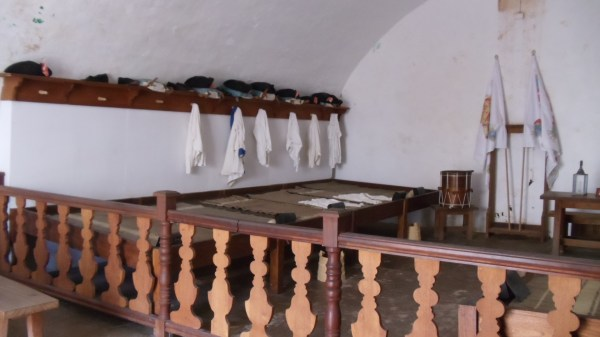 Where the soldiers laid their heads to rest after a hard day's work.