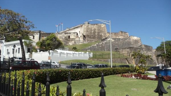 The Castillo de San Cristobal.