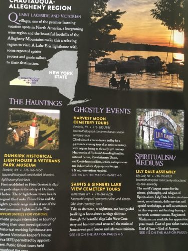 Haunted History Trail of NY brochures 3