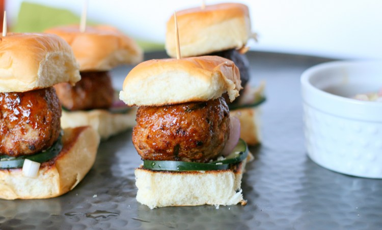 Teriyaki Turkey Meatball Slider
