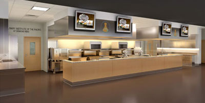 Artist's rendering of culinary training laboratory