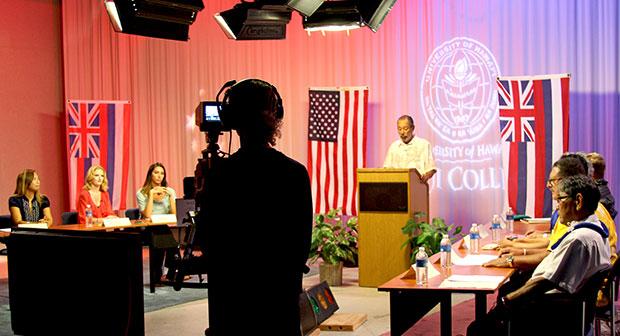Maui College TV production set