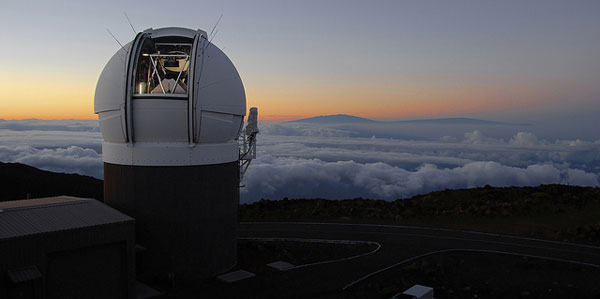 Pan-STARRS 1 Telescope on Haleakalā. (Photo by Rob Ratkowski)