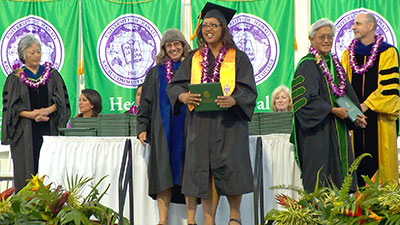 Kauai Community College's commencement ceremony on May 17.