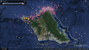 Satellite detections of tiger sharks off Oahu's North Shore