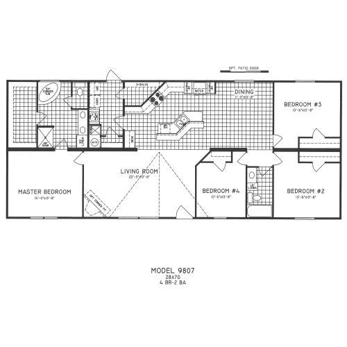 Medium Crop Of 4 Bedroom Floor Plans
