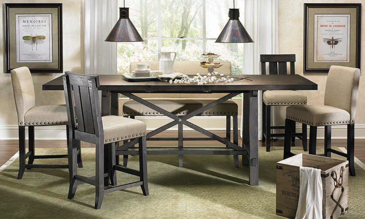 dining room furniture set yosemite counter rustic counter height kitchen chairs Picture of Yosemite Counter Height Dining Set