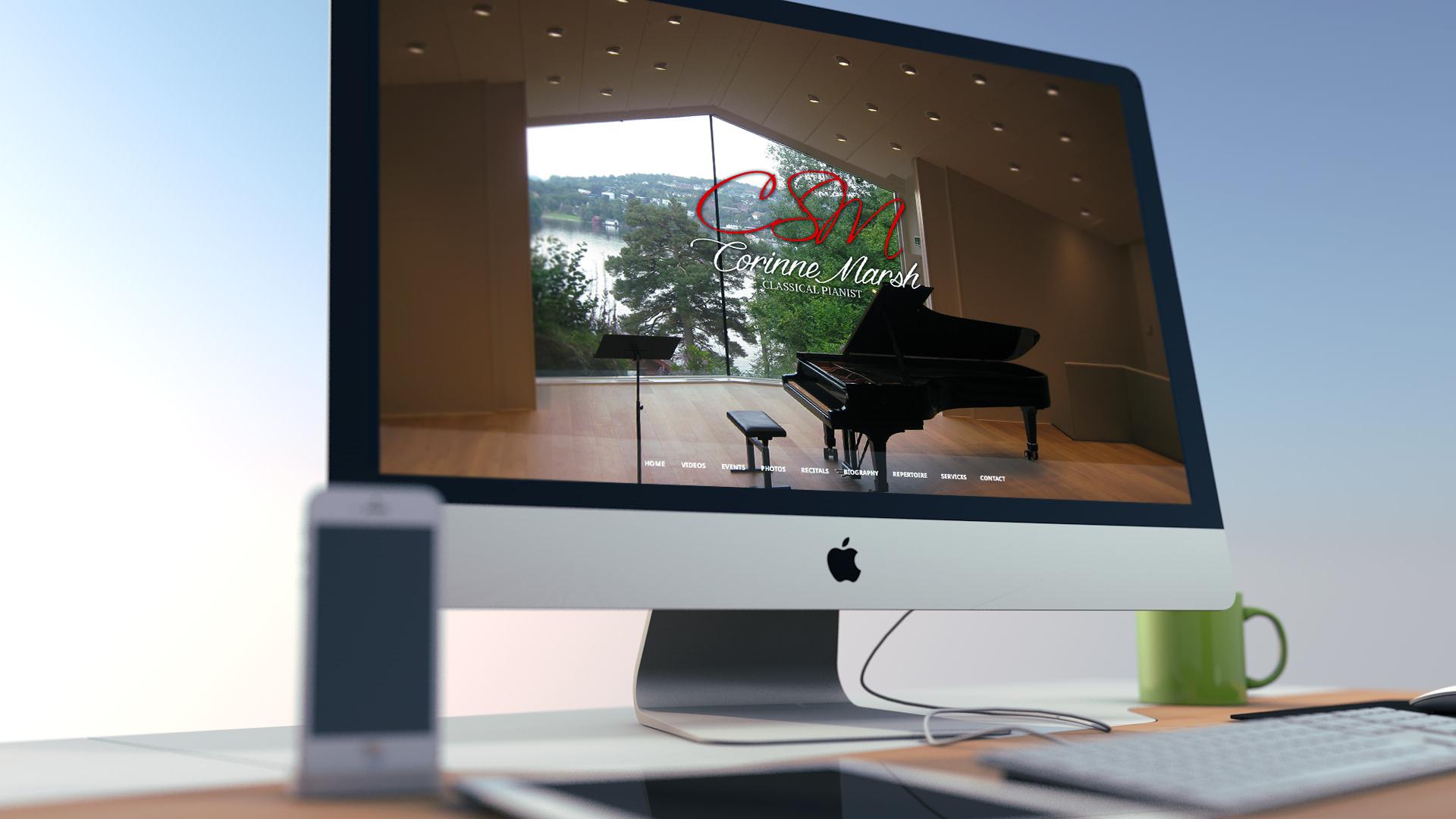 Website for Corinne Marsh Classical Pianist